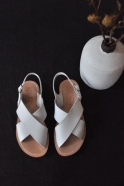 Sandals Uzes, white leather