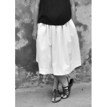 Skirt, white denim
