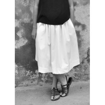 Skirt, white denim