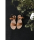 Sandals Cecile, natural leather