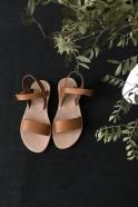 Sandales Cécile, cuir naturel