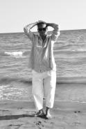 Pantalon classique, jean blanc