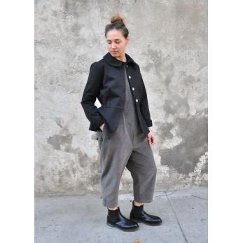 Combinaison, velours gris