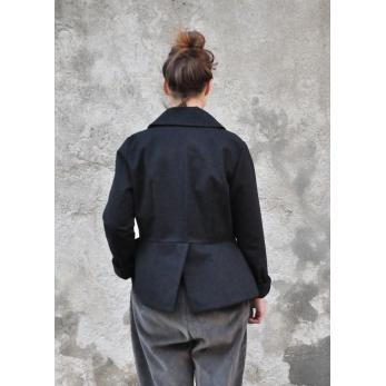Claudine jacket, black denim