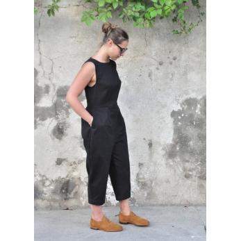 Jumpsuit, black denim