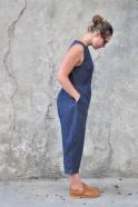 Combinaison, jean bleu