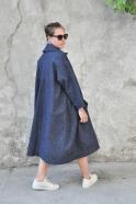 Manteau Claudine, jean bleu