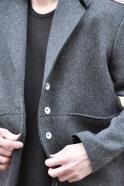 Caban, drap imper gris