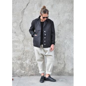 Sailor coat, black denim