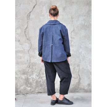 Sailor coat, blue denim