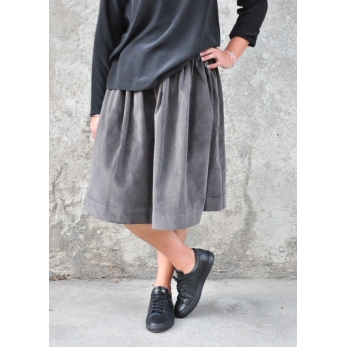 Skirt, grey corduroy
