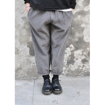 Classic trousers, grey corduroy