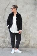 Pockets trousers, black corduroy