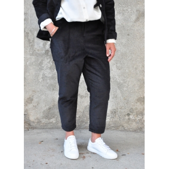 Pantalon à poches, velours noir