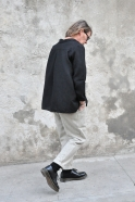 Pockets trousers, tourterelle wool drap