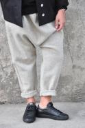 Saroual trousers, tourterelle wool drap