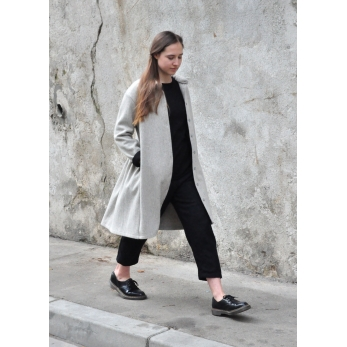 Robe-chemise, drap tourterelle