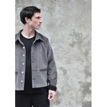 Jacket, grey corduroy