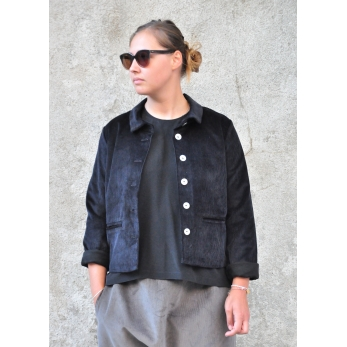 Jacket, black corduroy