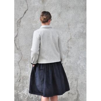 Jacket, tourterelle wool drap