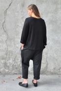 Flared sweater, black knit
