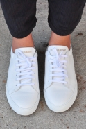Sneakers, white leather