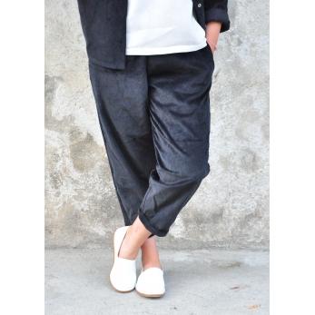 Pantalon classique, velours noir