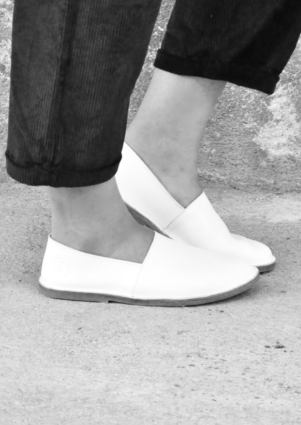 Slip on Maurice, white leather