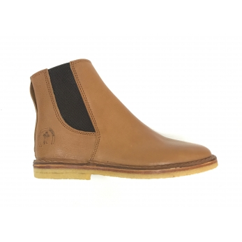 Bottines Billy, cuir grainé marron