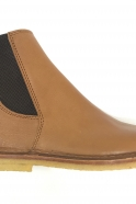 Billy boots, brown grained leather