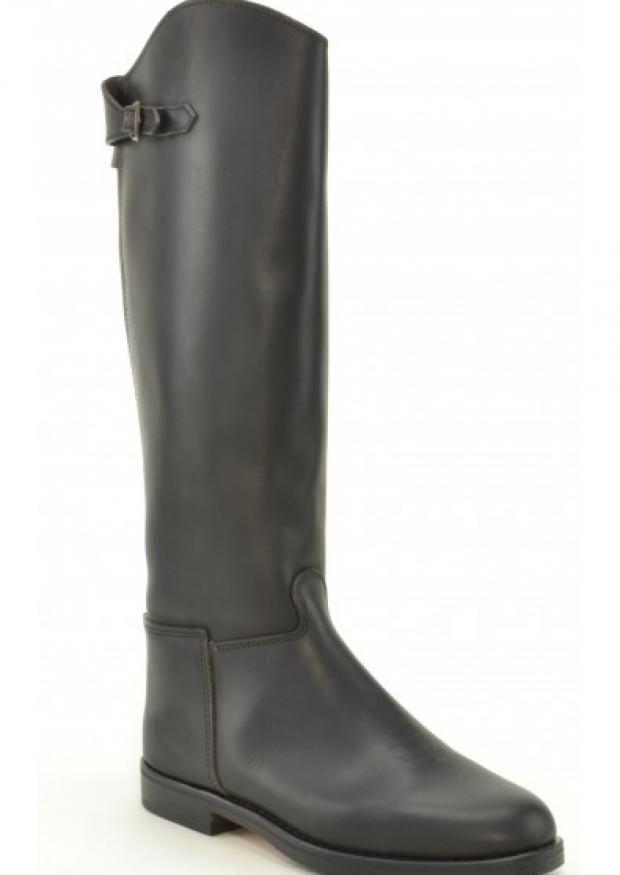 Cavalière boots, black leather