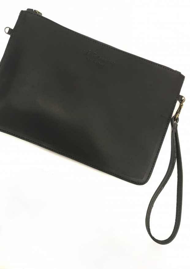 Purse, black leather