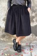 Jupe, velours noir