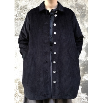 Coat, black corduroy