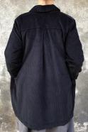 Manteau, velours noir