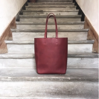 Bag Solène, Wine leather