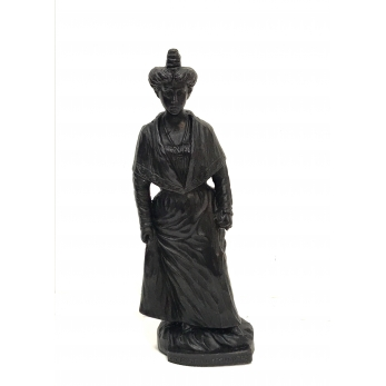 Wax woman figurine, black