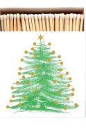 "Square matchbox ""Christmas tree"""