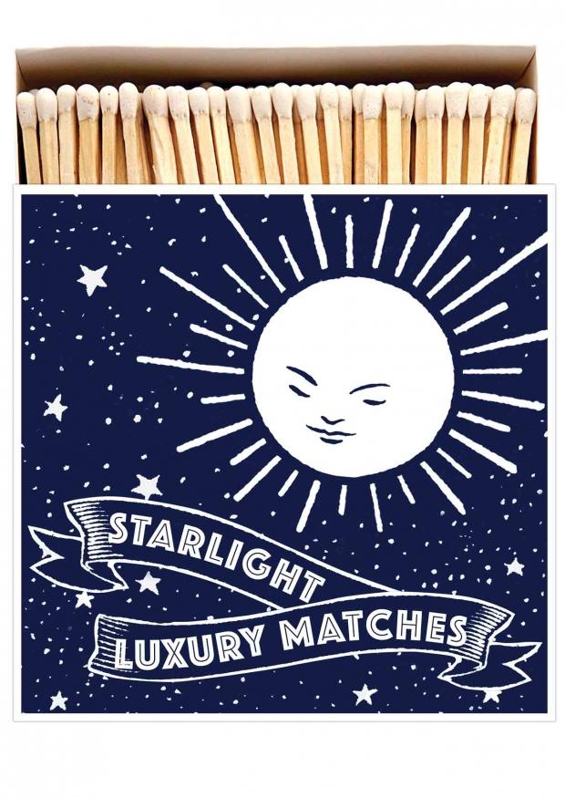 "Square matchbox ""Starlight"""
