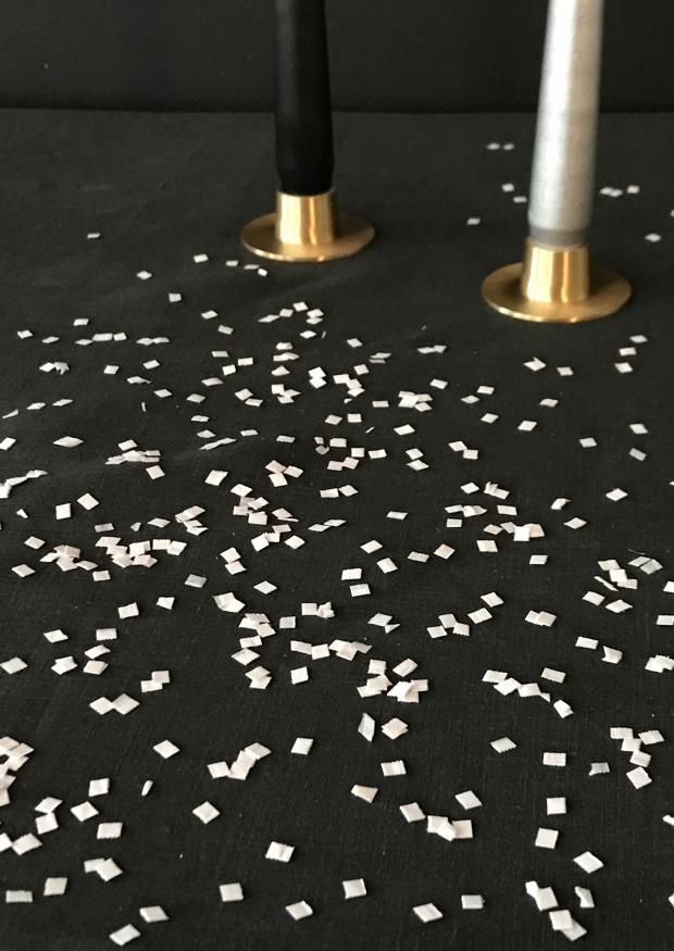 Confettis neige blancs