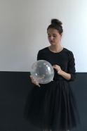 Ballons confettis or