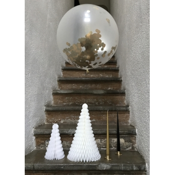Ballon géant confettis or