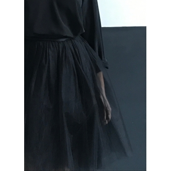 Jupon court en tulle noir