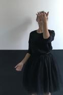 Jupon skirt, black tulle