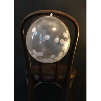 Ballons confettis blancs