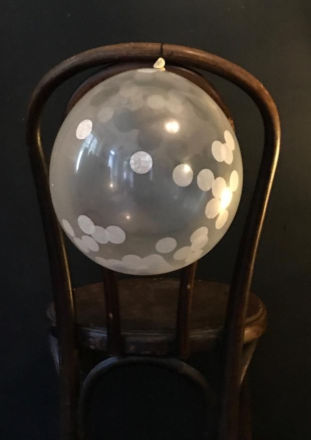White confettis balloons