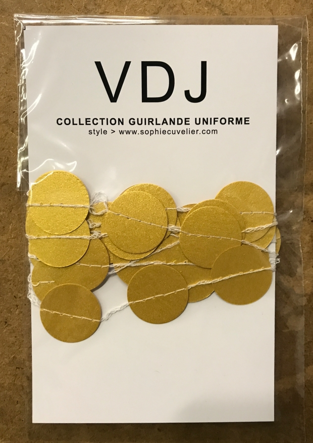 Guirlande Confettis, or