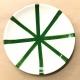 Segment plate green