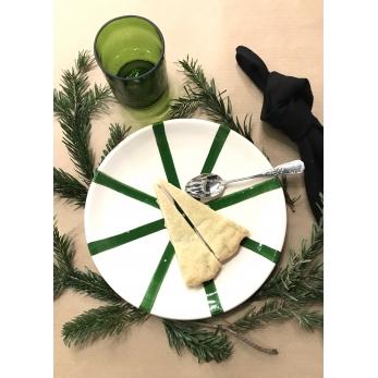 """assiette """"étoile"""" verte"""
