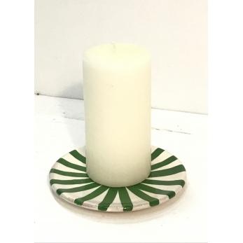Mini assiette soleil vert